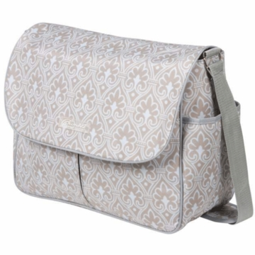 The Bumble Collection Amber Diaper Bag - Blue Filagree