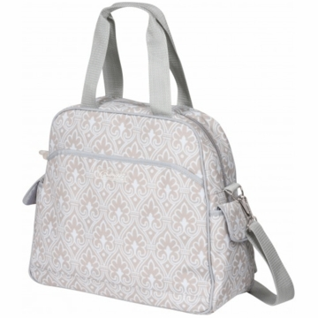 The Bumble Collection Brittany Diaper Bag - Blue Filagree