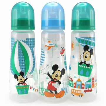 The First Years 8 oz Slim Bottles, 3pk - Mickey