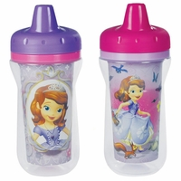 The First Years 9 oz Insulated Sippy Cups 2 PK - Sofia