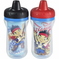 The First Years 9oz Insulated Sippy Cups, 2 PK - Jake & the Neverland Pirates