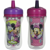 The First Years 9oz Insulated Straw Cups, 2 PK - Minnie Mouse