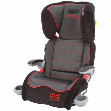 The First Years Compass B540 Ultra Folding Adjustable Booster in Elegance Black & Red