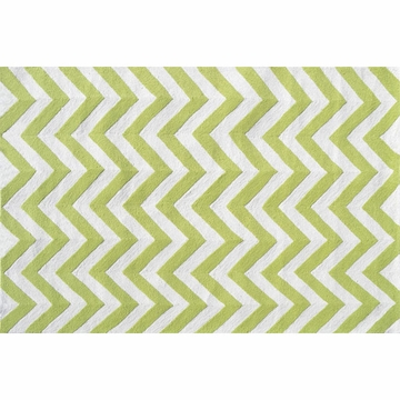 The Rug Market Chevron Rug - Lime