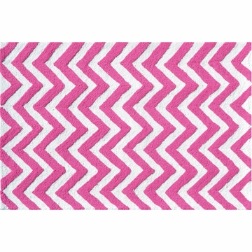 The Rug Market Chevron Rug - Pink