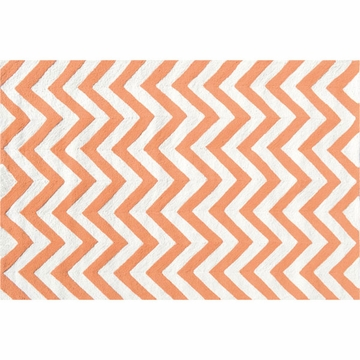 The Rug Market Chevron Rug - Tangerine