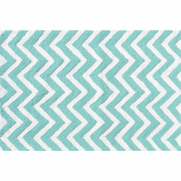 The Rug Market Chevron Rug - Teal