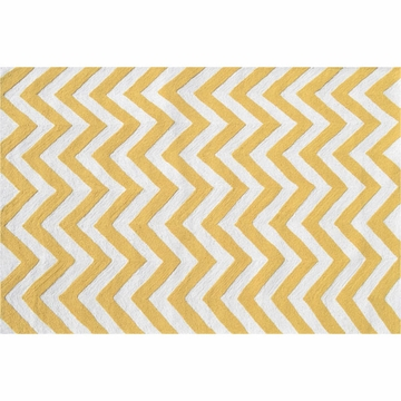 The Rug Market Chevron Rug - Yellow
