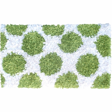The Rug Market Polkamania Rug - Lime & White