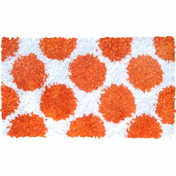 The Rug Market Polkamania Rug - Orange & White