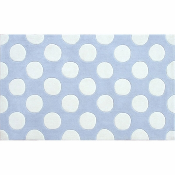 The Rug Market Rug - Small Polka Mania Blue