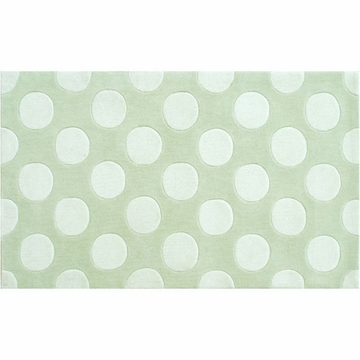 The Rug Market Rug - Small Polka Mania Green