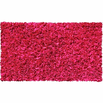 The Rug Market Shaggy Rug in Raspberry
