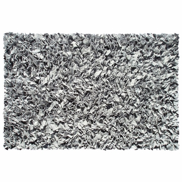 The Rug Market Shaggy Rug in Silver
