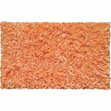 The Rug Market Shaggy Rug in Tangerine