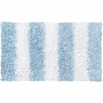 The Rug Market Shaggy Rug - Stripe Blue