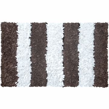 The Rug Market Shaggy Rug - Stripe Brown