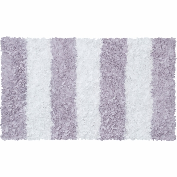 The Rug Market Shaggy Rug - Stripe Lavender