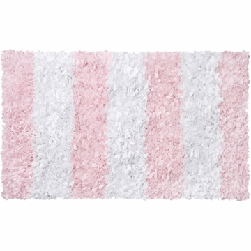 The Rug Market Shaggy Rug - Stripe Pink