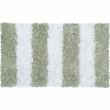 The Rug Market Shaggy Rug - Stripe Sage
