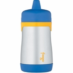 Thermos Foogo Leak Proof Stainless Steel Sippy Cup - 10 Ounce - Blue/Yellow