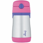 Thermos Foogo Leak Proof Stainless Steel Straw Bottle - 10 Ounce - Pink