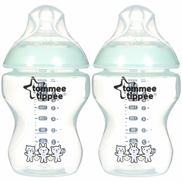 Tommee Tippee 9 Ounce Feeding Bottles - 2 Pack - Boy Deco