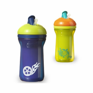 Tommee Tippee Truly Spill Proof Straw Cup - 2 Pack (Colors Vary)