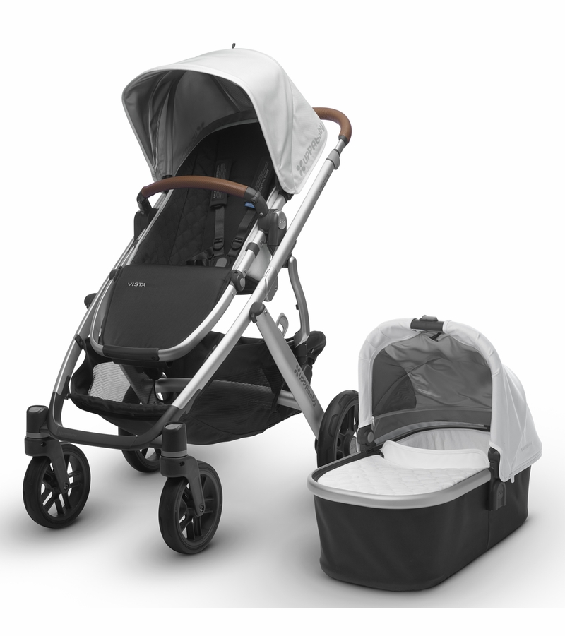 UPPAbaby 2017 VISTA Stroller - Loic (White/Silver/Leather)