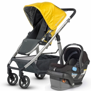 Uppababy Cruz & Mesa Travel System - Yellow/Black