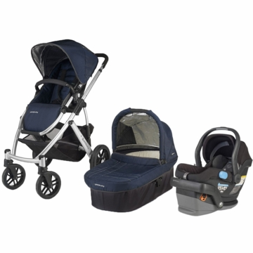 Uppababy Vista & Mesa Travel System - Indigo/Black