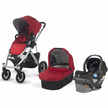 Uppababy Vista & Mesa Travel System - Red/Black
