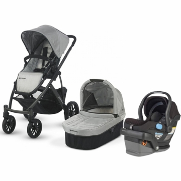 Uppababy Vista & Mesa Travel System - Silver/Black