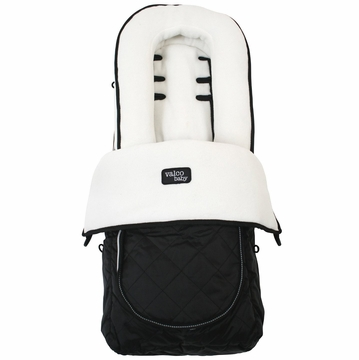 Valco Deluxe Footmuff - White Fleece
