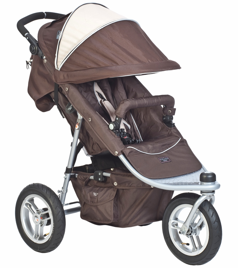 Valco Trimode EX Single Jogging Stroller Hot Chocolate