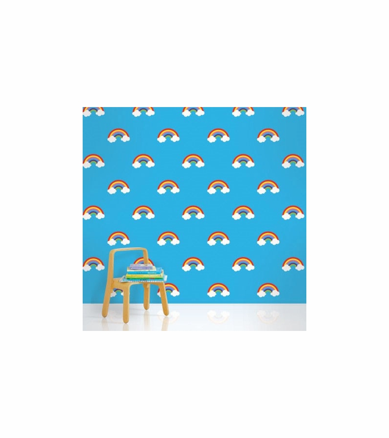 Rainbow Candy Wallpaper Wall Candy Rainbow Blue