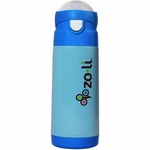 ZoLi Baby DASH 12 oz. Vacuum Insulated Straw Drink Bottle - Blue