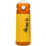 ZoLi Baby DASH 12 oz. Vacuum Insulated Straw Drink Bottle - Orange
