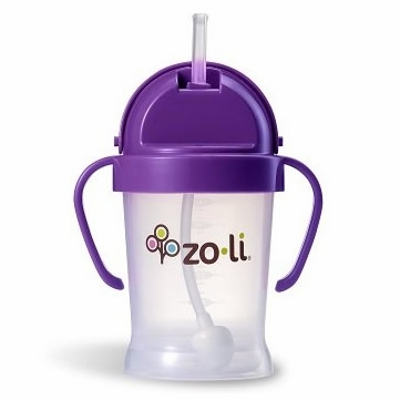 ZoLi BOT 6 oz Straw Sippy Cup - Purple