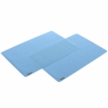 Zoli Matties Silicone Travel Place Mats 2-Pack - Blue