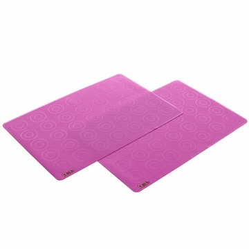 Zoli Matties Silicone Travel Place Mats 2-Pack - Pink