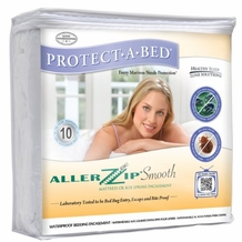 AllerZip Smooth Waterproof Bed Bug Proof Zippered Bedding Encasement
