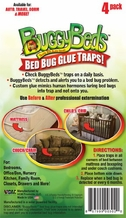 Buggy Beds Bed Bug Trap - BuggyBeds Home Glue Traps (4 Pack) - Detect Before Infestation