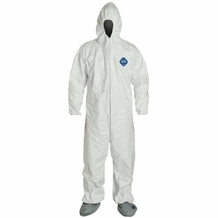 DuPont Tyvek TY-122S Coverall with Hood, Boot, & Elastic Wrist