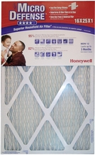 Honeywell CF112D1625/U MicroDefense MERV 12 Superior Household 1 Inch Air Filter- 4-Pack