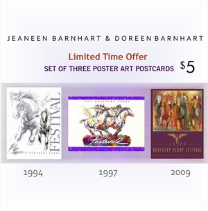 Barnhart Set of Three Poster Art Postcards