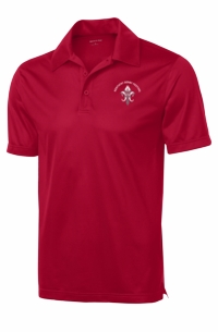 Fleur-de-Pegasus Performance Polo True Red