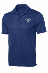 Fleur-de-Pegasus Performance Polo True Royal