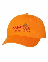 2014 Event Logo Embroidered Valucap Adult Bio-Washed Unstructured Cap - Neon Orange