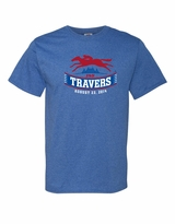 2014 Travers Stakes Adult T-Shirt - Retro Heather Royal